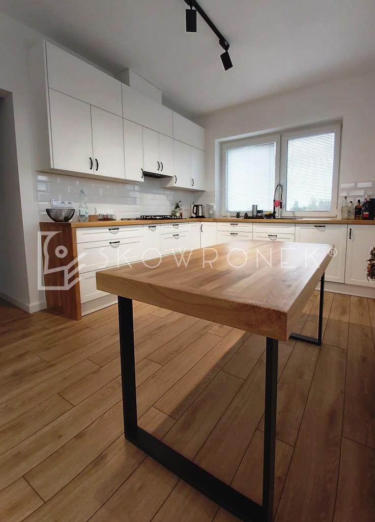 kuchnia klasyczna biała blaty drewniane lakierowana lakier biały mat skandynawska deb5